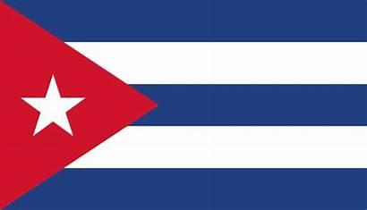 Flag Cuban Cuba Vector Illustrations National Clip
