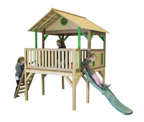 Rutsche Holz by Holz Kinder Spielturm Hohes Offen Stelzen Spielhaus