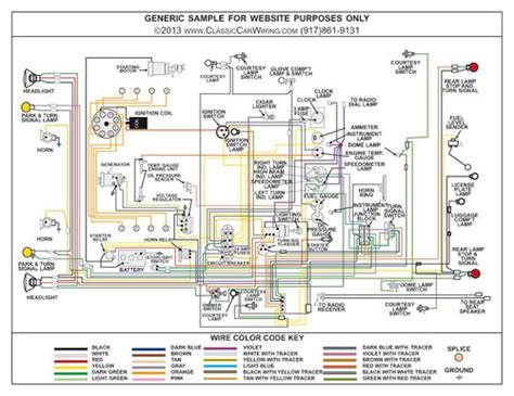 1940 ford color wiring diagram classiccarwiring
