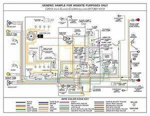 1956 Ford Car Color Wiring Diagram