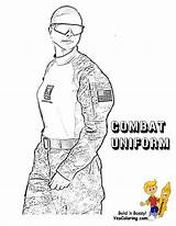 Coloring Army Uniform Combat Female Military Yescoloring Soldier Mighty Uniforms Noble Soldiers Enter sketch template