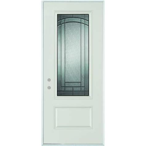 steel entry door home depot stanley doors 32 in x 80 in chatham 3 4 lite 1 panel