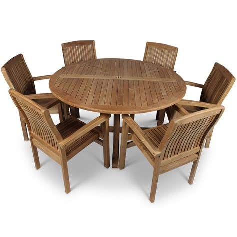 teak garden table and 6 chairs homegenies