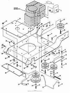 Snapper Lt140h411kv  80237  41 U0026quot  14 Hp Hydro Drive 1991 1  2 Series 1 Parts Diagram For Engine