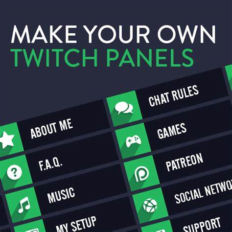 Twitch Panel Template Custom Twitch Panel Maker Or Die