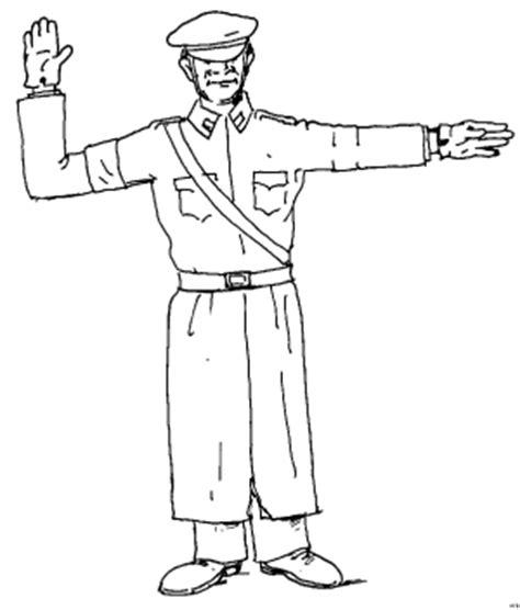 Polizist Regelt Verkehr 2 Ausmalbild & Malvorlage (menschen