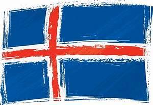 Grunge Iceland Flag Dawid Krupa As Art Print Or Hand