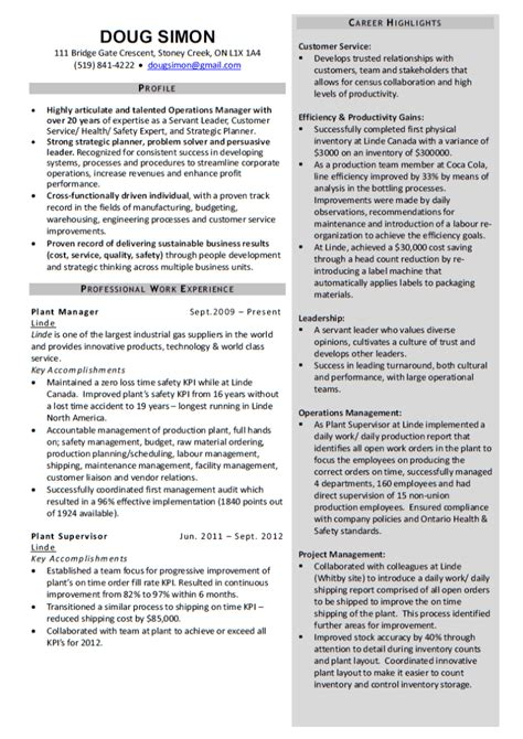 manufacturing resume sle credit note templates