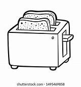 Toaster Outline Coloring sketch template