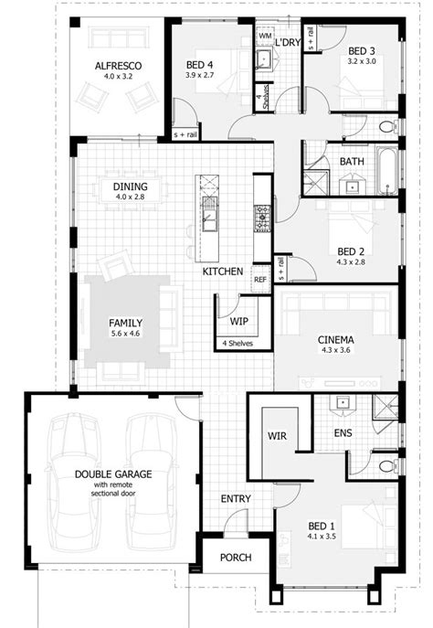 5 Bedroom House Plans Australia by Cool 5 Bedroom House Plans Perth New Home Plans Design