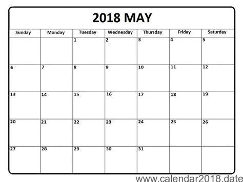 Free Calendar Template 2018 by Free Printable Calendar 2018 Templates