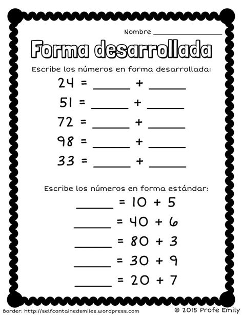 Math In Spanish Worksheets  Spanish Kindergarten Worksheets 1000 Images About On Ged Math