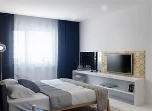 bedroom television Interior Design Ideas