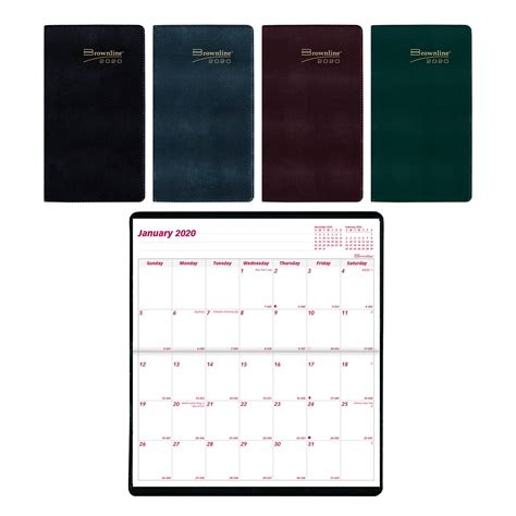 brownline  year monthly pocket planner