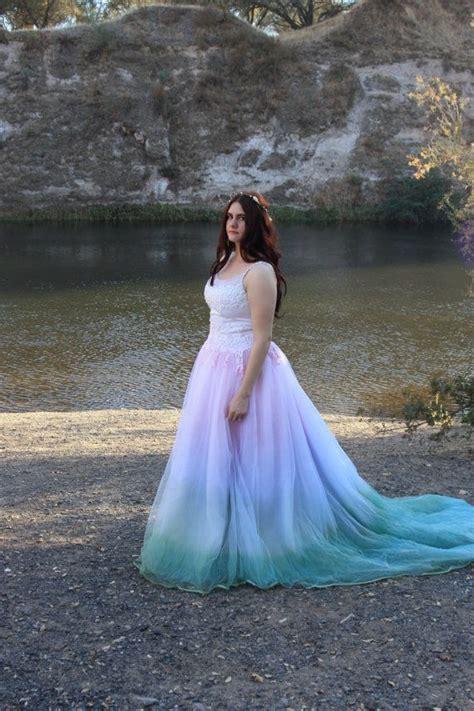 fairytale tie dye wedding dress  rapunzelrose  etsy