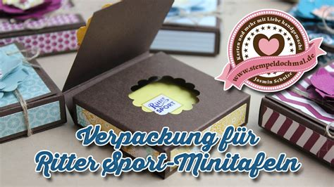 tutorial verpackung fuer ritter sport mini mit stampin
