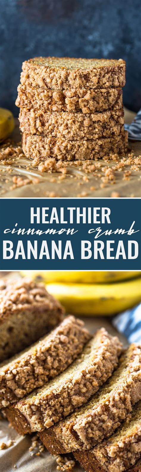 healthy cinnamon crumb banana bread gimme delicious