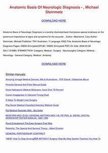 Anatomic Basis Of Neurologic Diagnosis Michae By