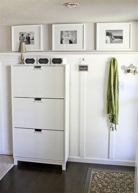 Ikea Stall Shoe Cabinet Hack by Shoe Cabinet Is The Stall From Ikea Board And Batten