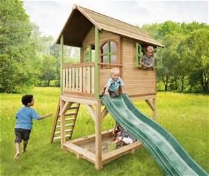 Spielhaus Garten Mit Rutsche : spielhaus mit rutsche sandkasten holzspielh tte hoch t v ~ Watch28wear.com Haus und Dekorationen