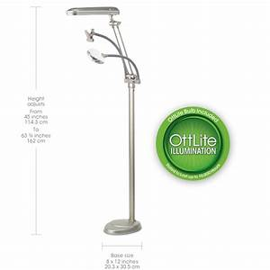 Ottlite 3 in 1 craft lamp craft lamps craft table lamp for Ottlite 18w floor lamp with magnifier