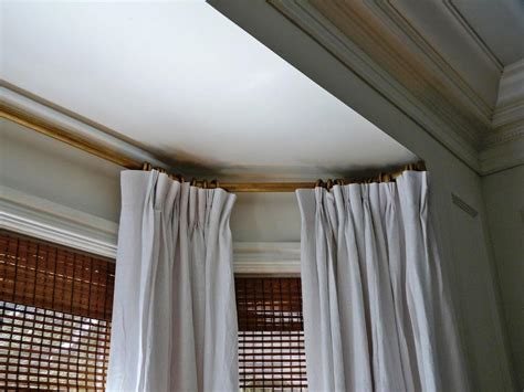 curtain rod for bay window decorative bay window rod home design how to measure