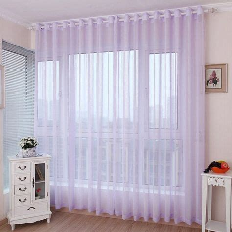 romantic light purple lavender sheer curtains  girls