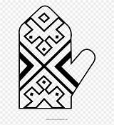 Oven Mitt Coloring Clipart Line Pinclipart sketch template