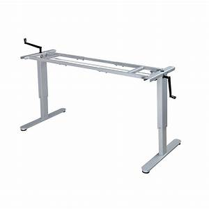 Manual  Hand Crank Sit  Stand Height Adjustable Desk Frame