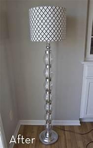 A glam bam floor lamp makeover curbly diy design for Floor lamp makeover ideas