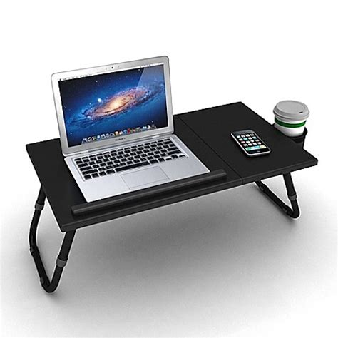 portable lap desk bed bath and beyond adjustable laptop tray in black bed bath beyond