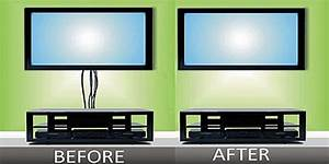 How To Hide Tv Wires For A Wall Mounted Tv  U2013 Firefold