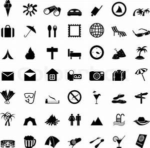 Travel set of different vector web icons | Stock Vector ...