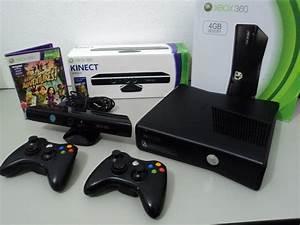 Xbox 360 Slim 2 Controles Kinect Jogos Frete