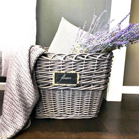 easy wicker basket makeover snazzy little things