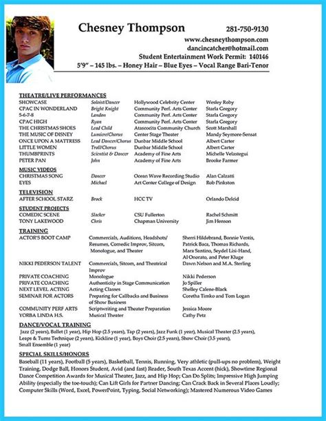 acting resume template backstage acting resume sle presents your skills and strengths in details the acting resume objective