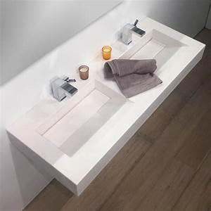 plan double vasque salle de bain suspendu 121x46 cm With plan et vasque salle de bain