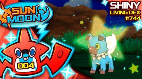 INSANE LUCK SHINY ROCKRUFF! Quest For Shiny Living Dex #744 | Pokemon Sun and Moon Shiny #4 ...