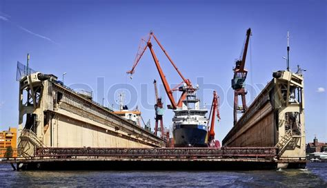 Boat Transport Captain Jobs by Ship In Dry Dock In The Harbour In Gothenburg Sweden