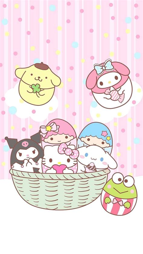 Features a cute graphic of your favorite sanrio character and a special flavor. Be Positive 🌈 — SANRIO EASTER EGG WALLPAPERS From Pintetest   Hello kitty printables, Hello ...