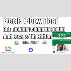 Gre Reading Comprehension And Essays Pdf Free Download