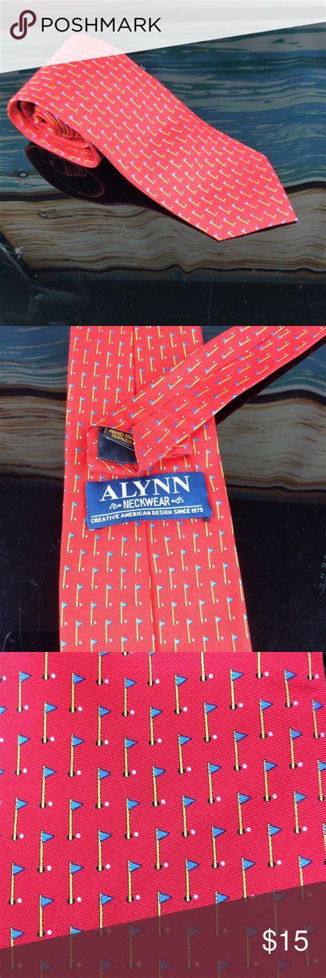 Alynn Golf Neck Tie Red 58 Inches Long Alynn Golf Neck Tie Red 58 Inches Long Red with golf ...