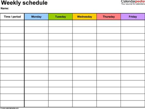 blank calendar print  daily calendar template weekly