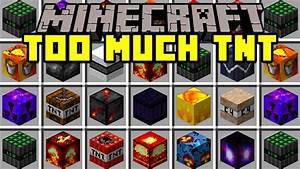 Minecraft TOO MUCH TNT MOD 50 NEW TNT METEORS NUKES