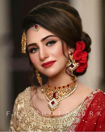 Pakistani Makeup Bridal Indian Hairstyles Hairstyle Bride