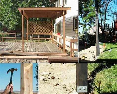 fabriquer une pergola en bois comment installer des poteaux pour votre pegola de terrasse