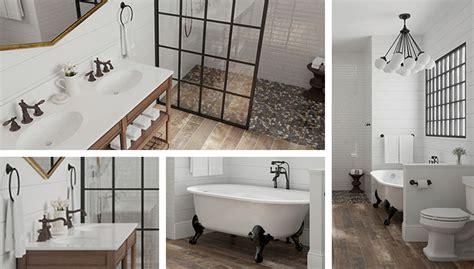 industrial farmhouse bathroom tile bathroom trend modern farmhouse Industrial Farmhouse Bathroom Tile