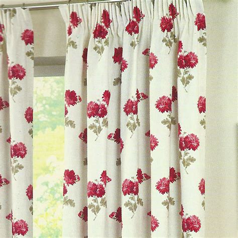 Floral Curtains Ready Made newbury floral ready made pencil pleat curtains