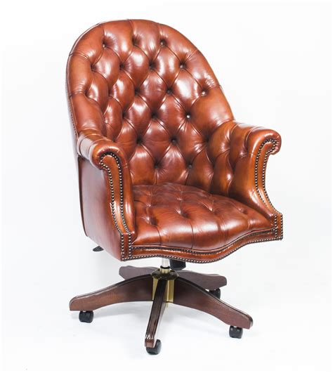 made leather directors desk chair