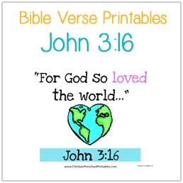 preschool bible verse printables christian preschool 338 | VVJohn316